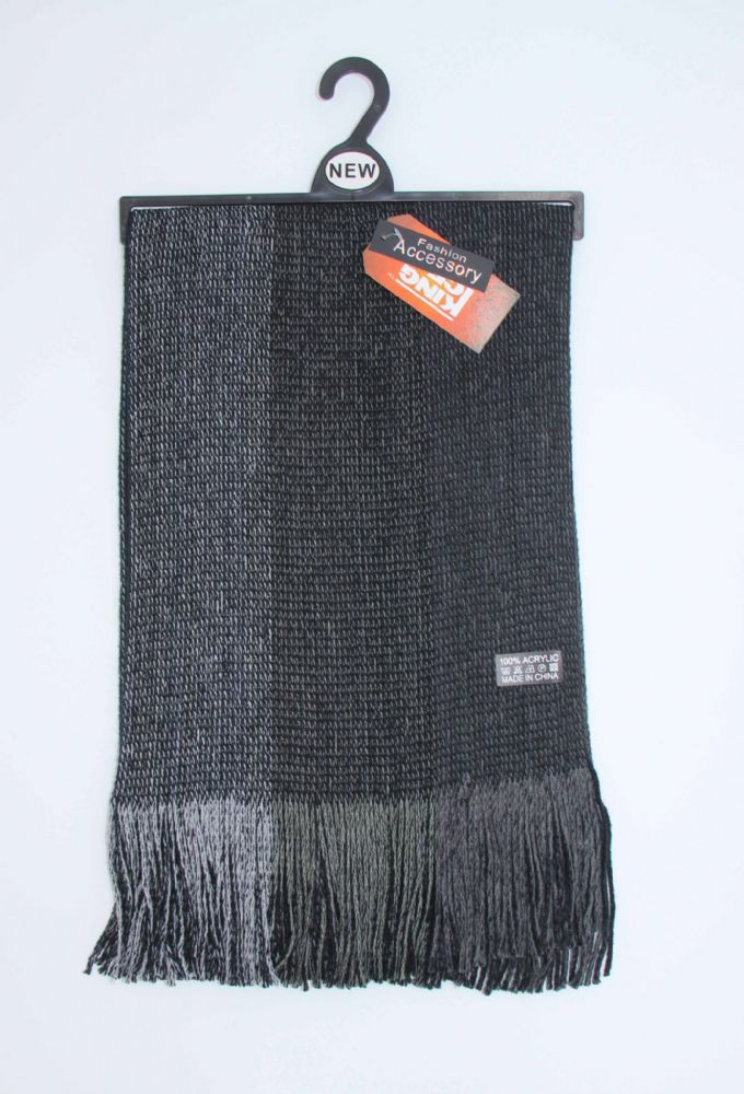 Mens knitted winter scarf (HT11-SCR569409)